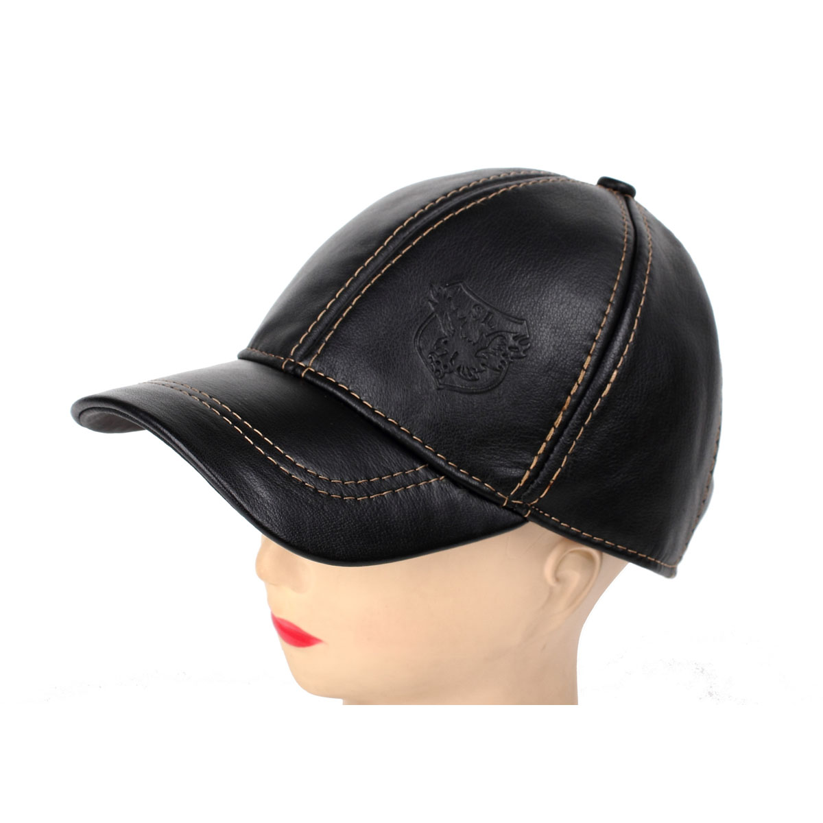 fa2efcfde11 Get Quotations · Free shipping 2014 Winter Fur cap hat short brim fashion  leather hat genuine leather cowhide hat