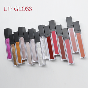 [Private Label Makeup] 14 colors mixed shimmer and shine lip gloss / matte lipstick in 8ml see-through plastic tube
