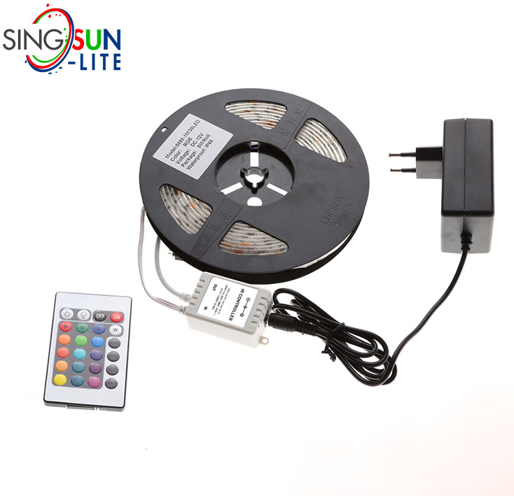 2 years warranty multi color 5050 3528 2835 led strip 30 led/m waterproof rgb led strip set with controller