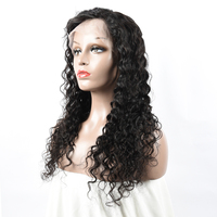 Factory Wholesale Good Price 150% density Unprocessed Mink Virgin Brazilian Human Hair Loose Deep Wave Full Lace Wig