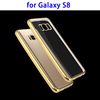Electroplating Frame Hybrid Protective Case and Crystal Clear Back Cover for Samsung Galaxy S8 Case