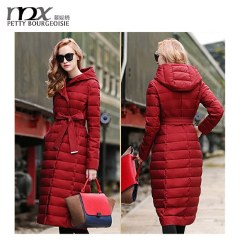 European Style Shiny Full Length Down Coat - Buy Full Length Down ...