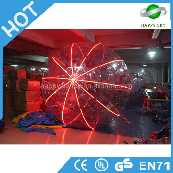 Colourful large LED inflatable ball,giant LED hamster balls,LED hamster ball for sale