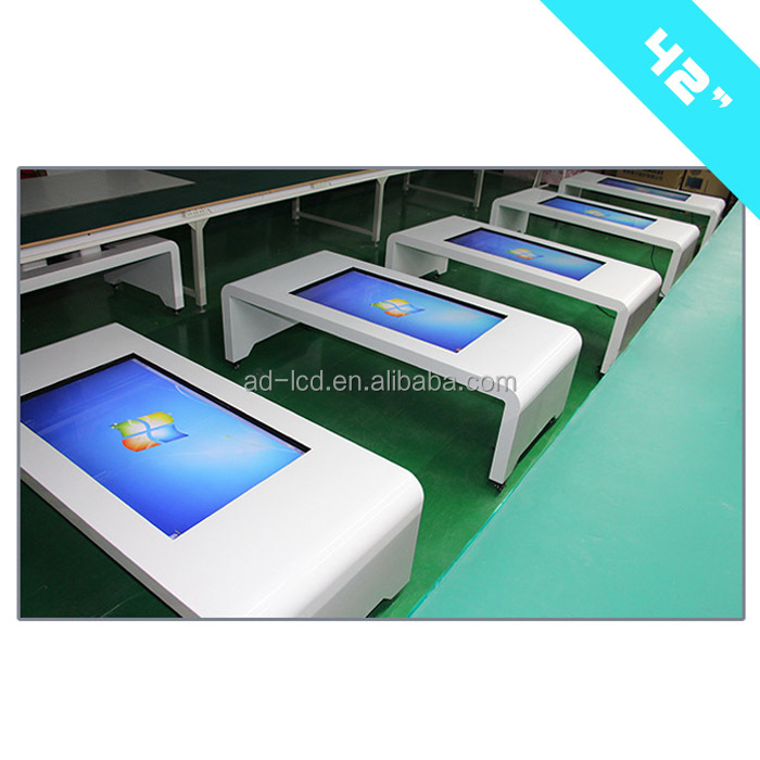42 Inch Tea Table Advertising Player touch screen lcd table advertising stand
