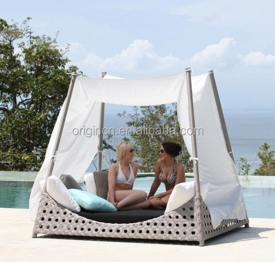 Prince royal garden outdoor viro wicker furniture with aluminium frame daybeds for sale indian