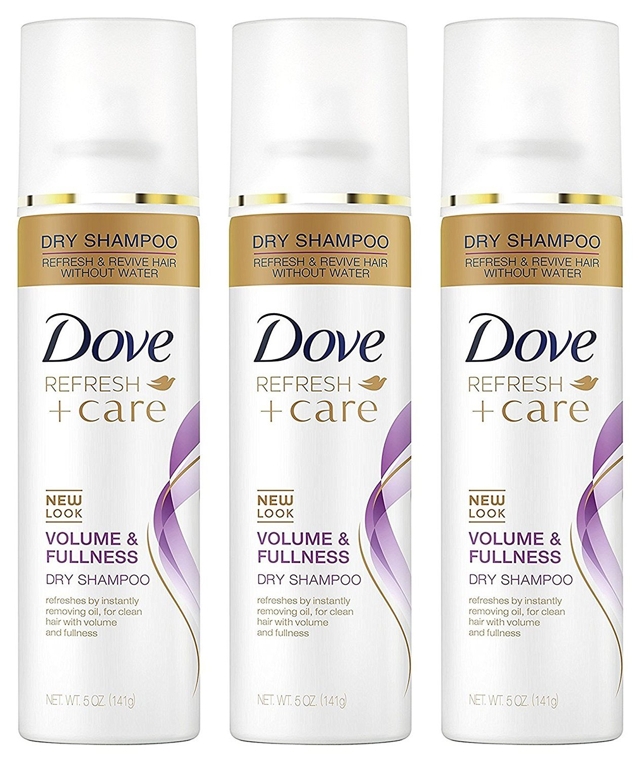 Dove Dry Shampoo Refresh and Care Volume and Fullness, 5 Ounces, 3 Pack