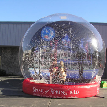 Popular life size snow globe clear inflatable dome for live show,inflatable snow globe tent,inflatable Christmas snow globe