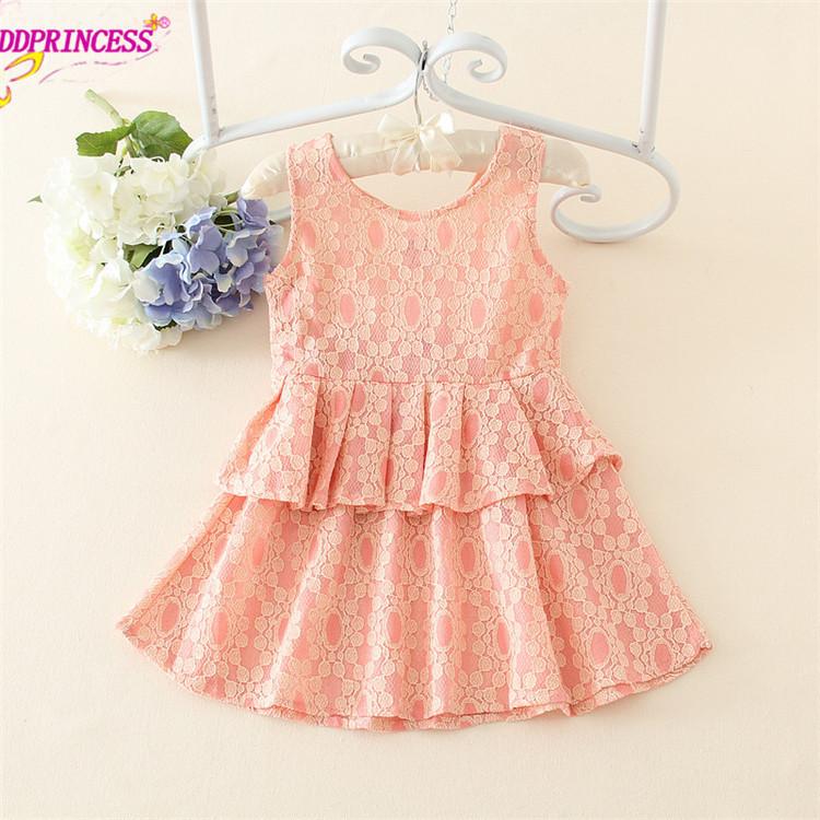 301ac5b75 New Arrival Cotton Lace Flower Design Little Girl Summer Dress ...