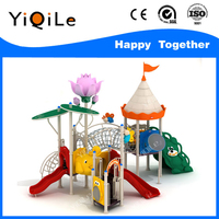 Fine workmanship kids plastic playground slide material for sale