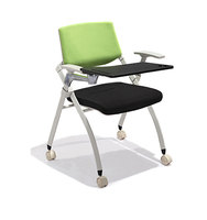 Fabric Cover Office Training Chair with Writing Tablet