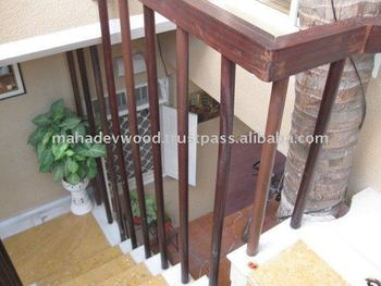 At Wholesale Price Exterior Wooden Stair Railing Parts