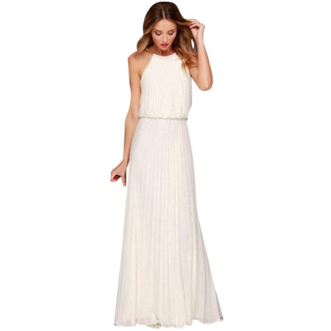 e55e5668ff Get Quotations · Women Long Dress Halter Dress Beach Maxi Dress Summer Hawaii  Dress Sleeveless Party Dress Hemlock (