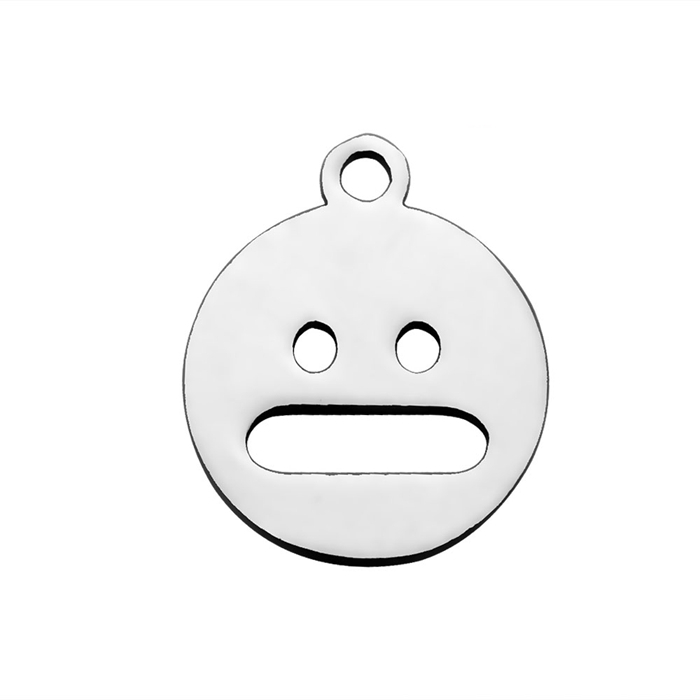 Jewelry DIY custom laser cut charms custom design metal emoji face charms for beaded bracelets (PP-006)