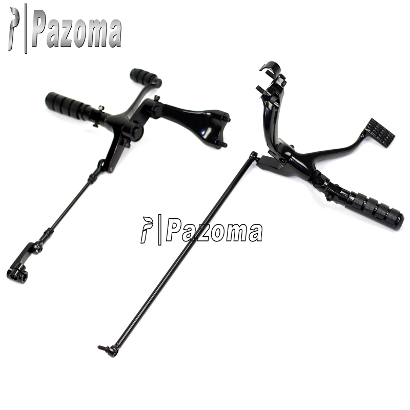 Brand New Pazoma Sportster Forty-Eight Iron Roadster Nightster Forward Controls Motorcycle Black Foot pegs foot peg 1622-0141