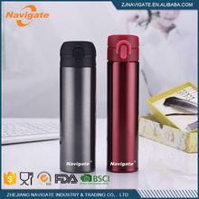 Fashionable stainless steel 400ml sports water bottle with cap