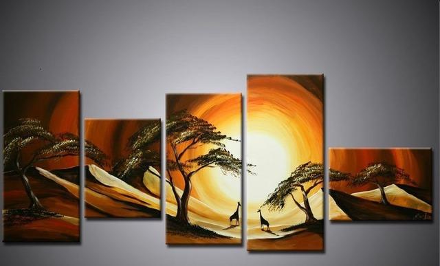 5 panels moderne wandmalerei bild auf leinwand lgem lde. Black Bedroom Furniture Sets. Home Design Ideas