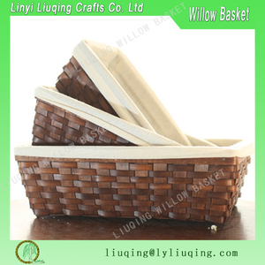 Christmas gift willow storage basket for packaging