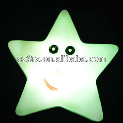 Plastic light up toy/Star shaped flashing light toy/LED light up toy for kids