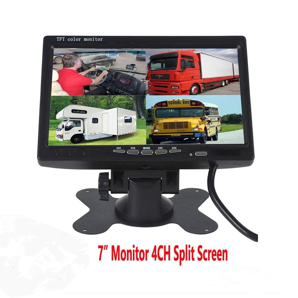 car recorder 7 inch truck rear view quad monitor with split image display lcd display for truck new design monitor