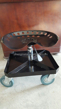 Rolling Metal Garage Chair With Tool Tray TC4509