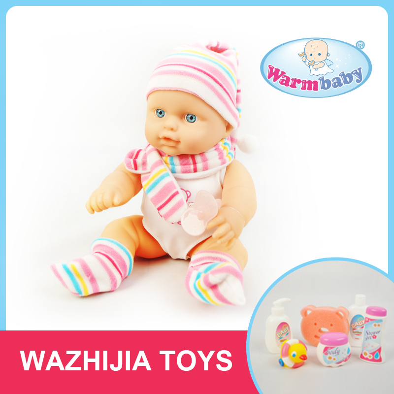 Factory lovely baby boy doll bath set water game toy for girls