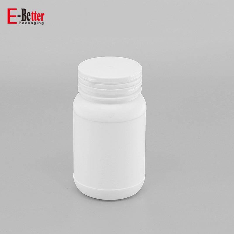 5 pcs 8 oz Round Cylinder HDPE Plastic Bottle w// Screw-On Lids 24-410 Closure