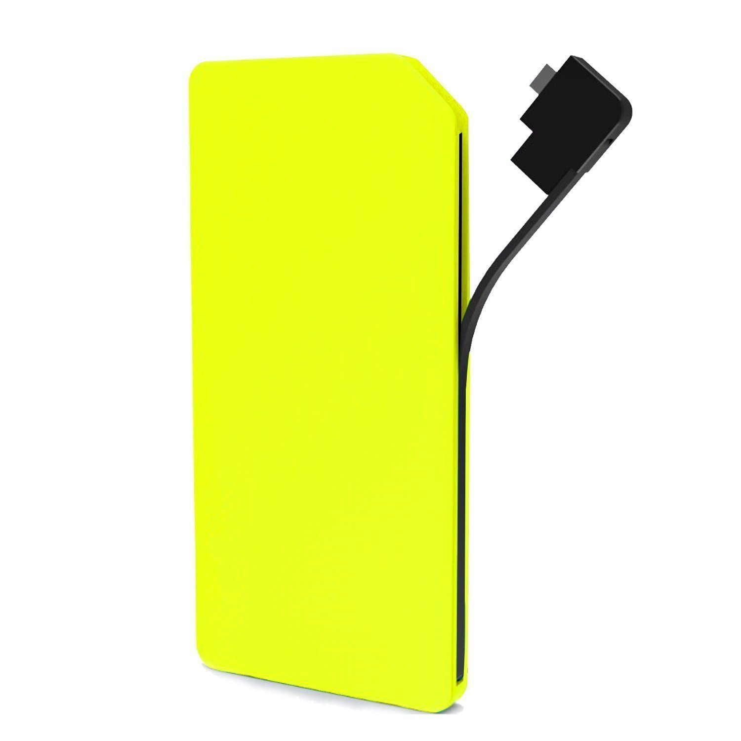 Slim Power Bank, JDB 10000mAh Portable USB Charger Dual Output External Battery Charger Mobile Battery Pack Backup Built-in Micro USB Cable for iPhone, Android Cell Phone,Tablet and more.