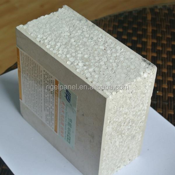 a prueba de fuego eps panel sandwich cemento ncleo tableros de corcho decorativo para paredes
