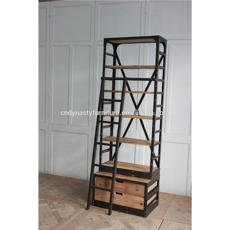 quality design c23ff 7c3d5 Vintage Industrial Style Furniture Metal Bookcase With Ladder - Buy  Industrial Furniture,Vintage Industrial Furniture,Industrial Style  Furniture ...