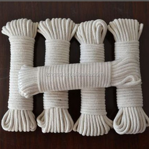 16 strands cheap white cotton braided rope