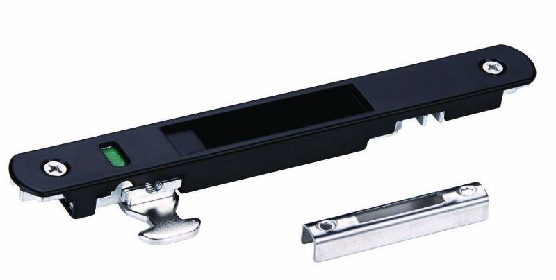 Aluminio cerradura para puerta corredera con te negro otro for Cerraduras para puertas de aluminio