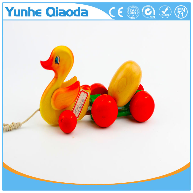 colorful Pull Along wiggles duck with one egg Wooden Toy wiggles as you pull they make a fun baby