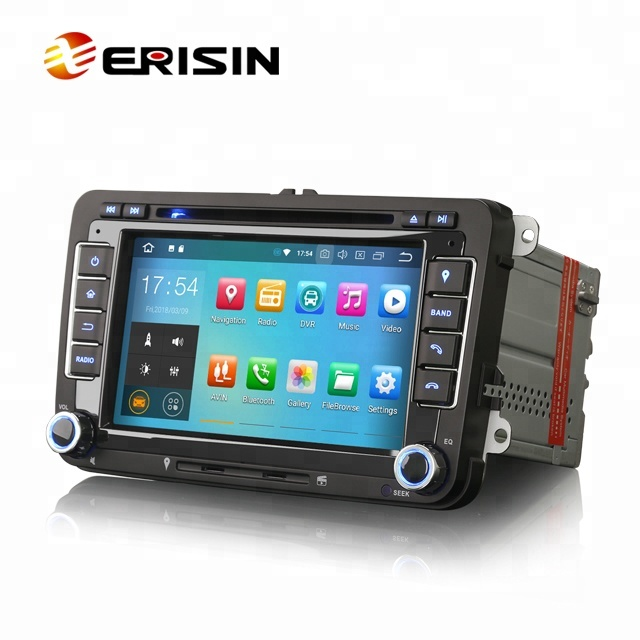 Erisin ES7848V Octa Core Android 8.0 4G WiFi DAB TPMS autoradio GPS pour VW GOLF