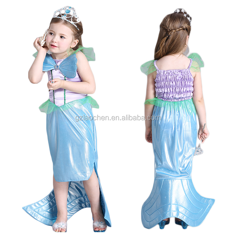 little mermaid birthday party supplies Ariel princess cosplay dress costume