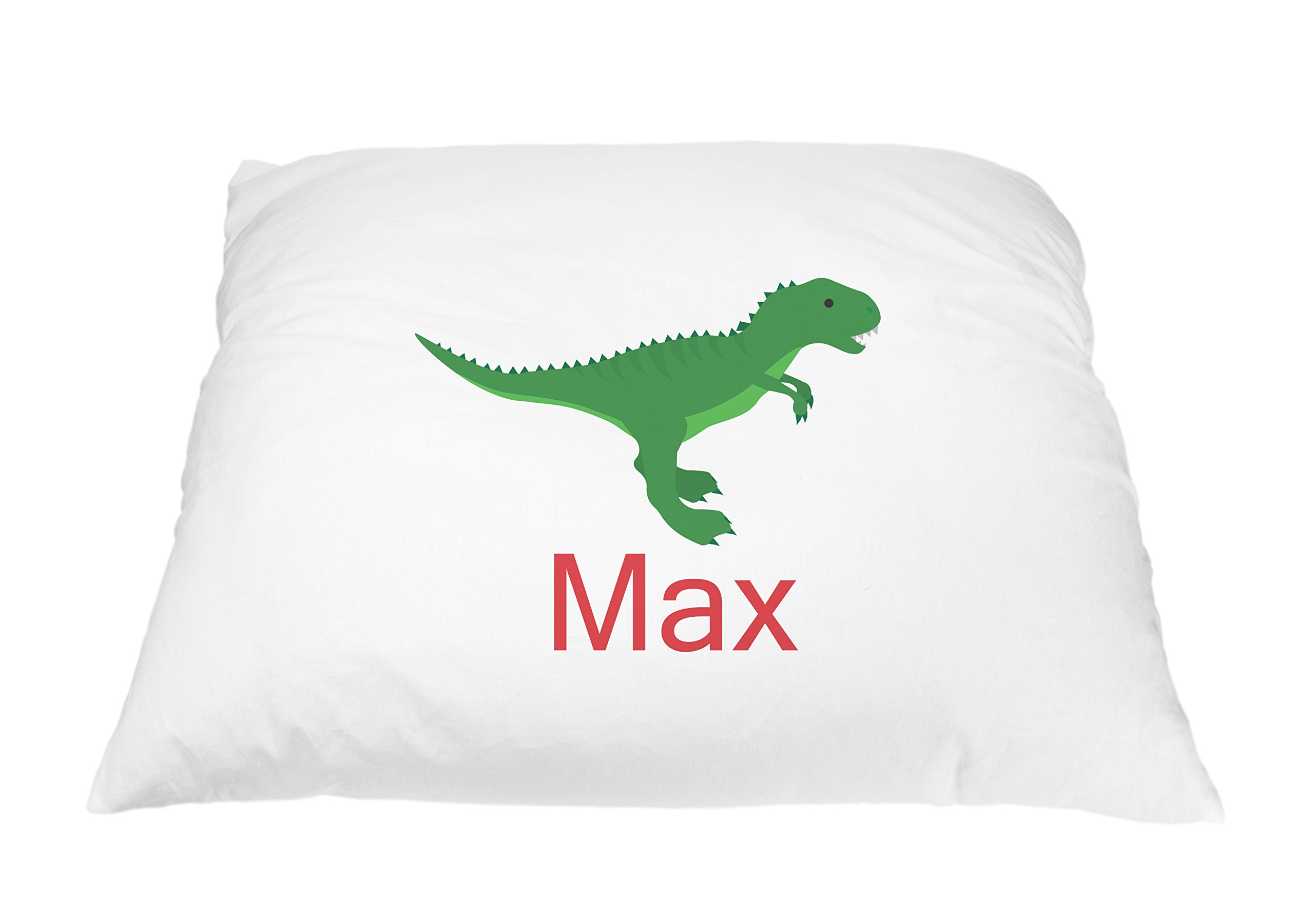 Personalized Kid's Dinosaur Pillowcase Microfiber Polyester Standard 20 by 30 Inches, Dinosaur Pillow Cover, Toddler Pillow Cover, Dino & T Rex Pillow for Dinosaur Kids Room