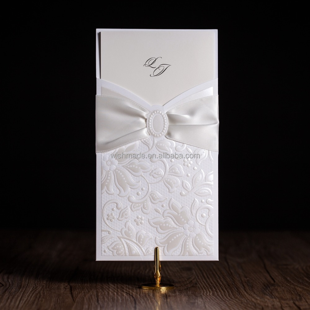 White Printable Arabic Wedding Invitation Card Cw5193 - Buy Wedding ...