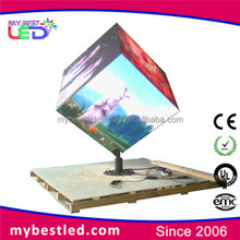 3x3x3m led cube display screen big TV video playing in stadium for live show