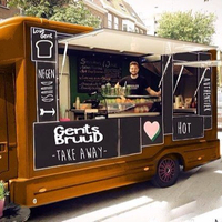 Vintage citroen food truck for street food sell business
