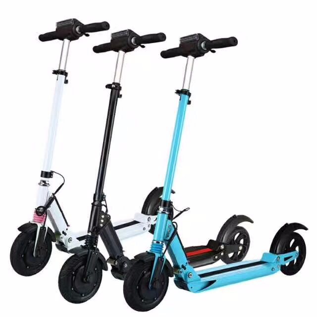 Two wheel folding electric scooter foldable mobility scooters with LCD display, Black;white;blue