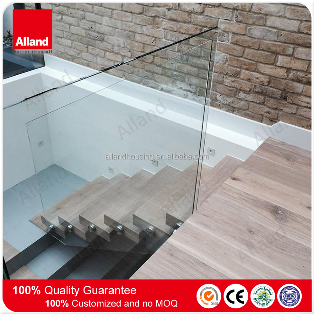Interior Wood Kit Cantilever Or Floating Staircase With Glass Railings    Buy Cantilever Staircase With Glass Railings,Interior Wood Staircase,Wood  Flaoting ...