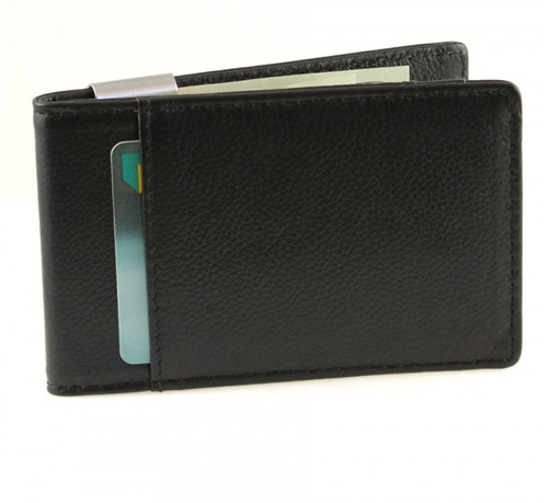 Premium Popular style metro leather money clip credit card holder