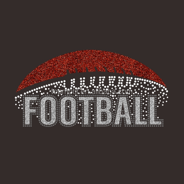 FOOTBALL Strass Shirt Design Cricut Glitter Vinyl Großhandel