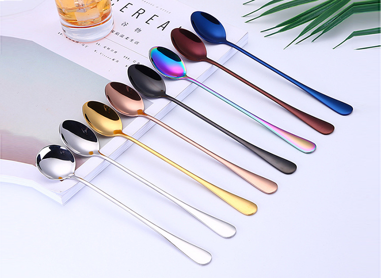 18/8 Stainless  steel long handle spoon Iced Tea Coffee Cocktail Stirring Mixing Spoon