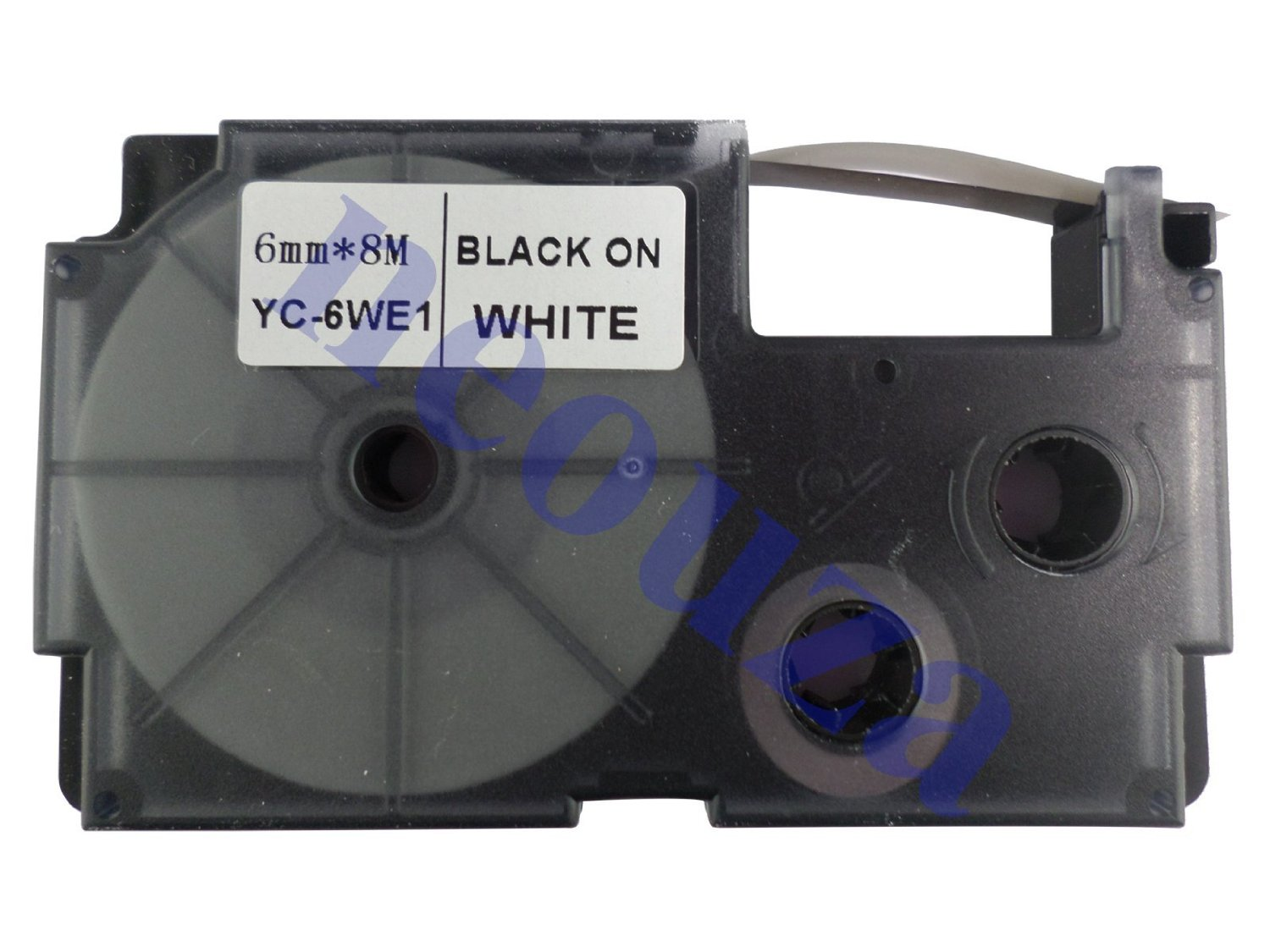 Compatible for Casio EZ-Label Tape 6mm Black on White XR-6WE1 8m LABEL IT!