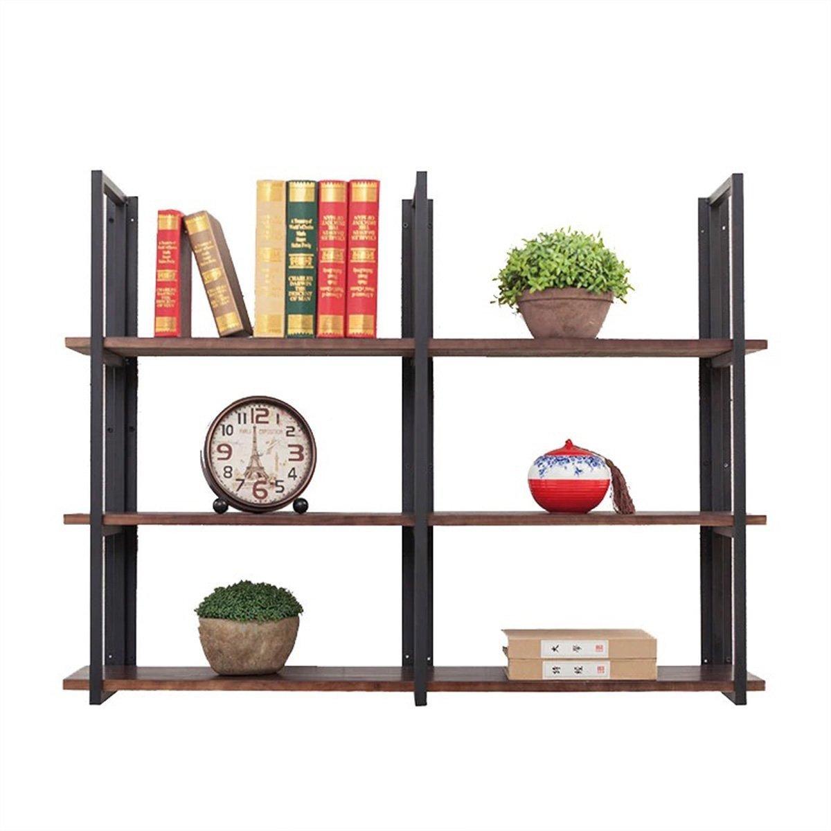 Warm Van Industrial Vintage 36 In Wood&Iron Floating Storage Shelves,Hanging Shelf, Wall Mounted Bookcase,Living Room Bedroom DIY Wall Rack