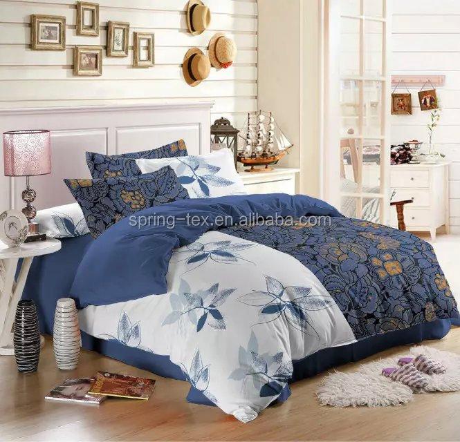 Uso doméstico Cama Lençol Definir 100% Lençóis de Algodão Tecido Liso 60s Set/roupa de cama/folha de cama/Capa de edredon
