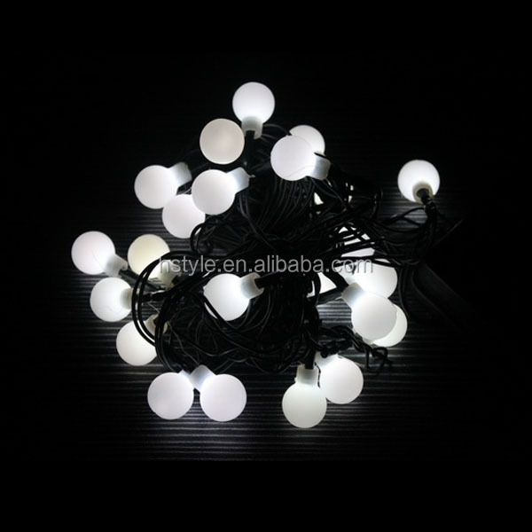 100 Led Ball String Lights Outdoor Decoration White Christmas ...