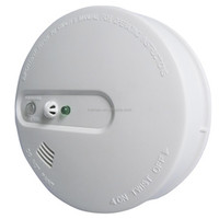 9V battery,AC110V/120V/220V/230V/240V Smoke Detector,Wireless Interconnect,Test and Hush Button Silence Function