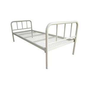 Iron Single Size Bunk Bed for Student Platform bed Style and Metal single domitry bed steel on sale factory use