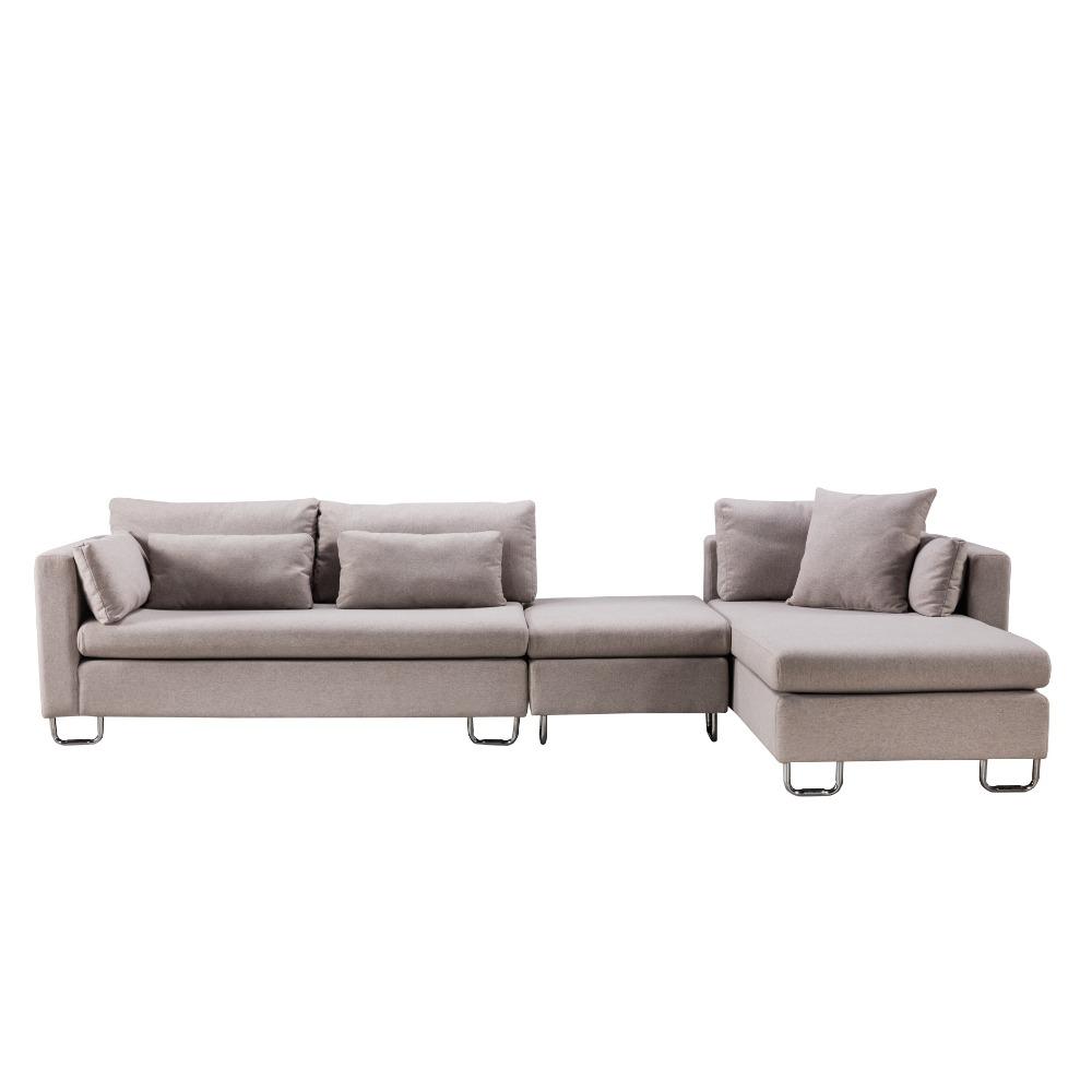2017 Nuevo estilo nórdico simple sofá de tela India muebles para ...
